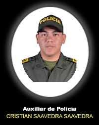 Auxiliar de Policía CRISTIAN CAMILO SAAVEDRA SAAVEDRA