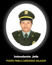 Intendente Jefe PEDRO PABLO CARDENAS SALAZAR
