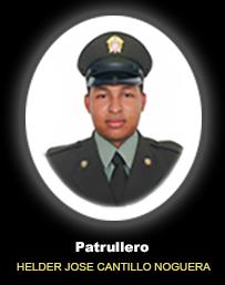 Patrullero HELDER JOSE CANTILLO NOGUERA