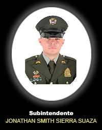 Subintendente JONATHAN SMITH SIERRA SUAZA