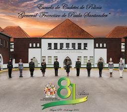 """Conmemoración aniversario 81 de la Escuela de Cadetes de Policía """"General Francisco de Paula Santander"""""""