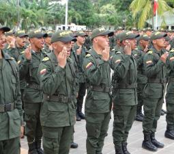 Ceremonia juramento de bandera Auxiliares de Policía