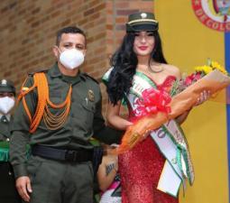 Coronación Reina Policía Nacional, en el marco del festival de la Guabina y el Tiple