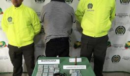 Presunto delincuente quien al parecer integraba la banda delincuencial la empresa