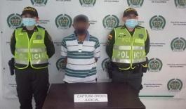 Capturado por el delito de acto sexual abusivo con menor de 14 años de edad