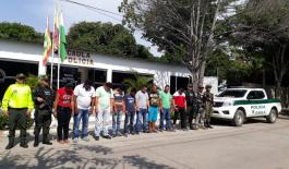policía nacional capturaron a 14 presuntos miembros del clan del golfo