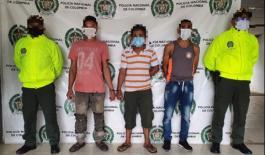 Capturamos a tres hombres por los delitos de hurto calificado y agravado