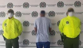 Por los delitos de porte y legal de arma de fuego y lesiones personales capturado hombre de 24 años de edad