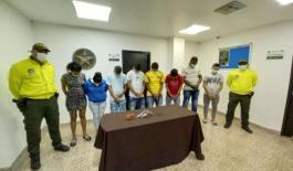 Nueve personas fueron capturadas del grupo delincuencial.
