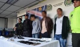 4 personas capturadas por delitos relacionados con homicidios