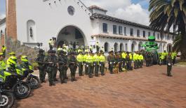 En Iglesias, procesiones, rutas de peregrinación, vías y lugares turísticos los ciudadanos contaron con su Policía