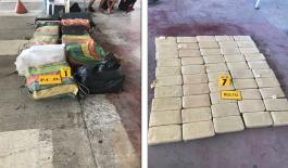En operaciones trasnacionales fueron incautadas más de cinco toneladas de cocaína