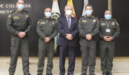 Visita Contador General de la Nación a la Policía Nacional de Colombia