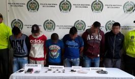 6 capturados por tráfico de estupefacientes