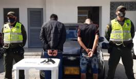 captura de cuatro hombres con armas ilegales en el municipio de Pereira