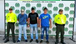 tres capturados en Bogotá, Sogamoso y Yopal dedicados al hurto a residencias y sector comercio.