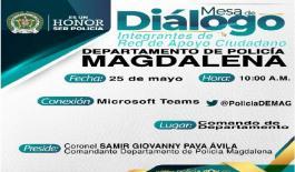 mesa de dialogo-rendición de cuentas 2021-trimestre- policía magdalena-demag