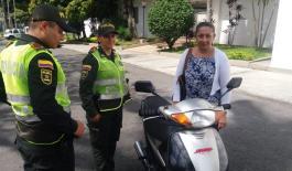 Mediante solicitud de anotaciones judiciales recuperamos una motocicleta