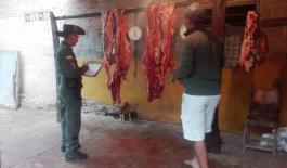 policia ambiental-invima-matadero ilegal-red de participacion civica-algarrobo-decomiso de carne