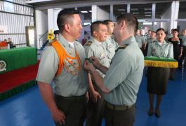 Condecoraciones al personal destacado de la unidad