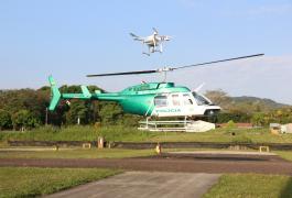 Bell 206 y Dron