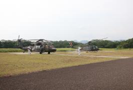 Fumigación Helicopteros COVID - 19 ESAVI