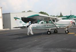 Fumigación Hangar - Avión COVID - 19 ESAVI