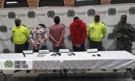Siete capturados en Bello, Medellín y Copacabana en poder de 5 armas de fuego ilegales