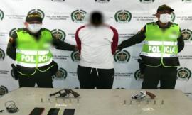 Capturado delincuente por hurto, portaba arma de fuego