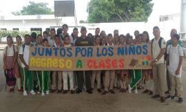 Con actividades de prevención la Policía Nacional da la bienvenida a clases a estudiantes en Córdoba.
