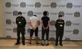 Dos sujetos capturados en el marco de la protesta social.