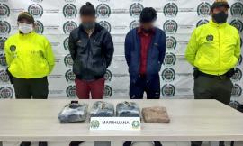 Capturados en Boyacá cuando transportaban varios kilos de marihuana