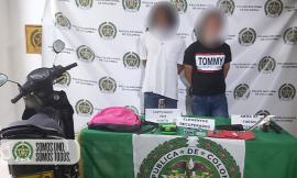 Capturadas 4 personas por hurtos en el barrio laureles y en el centro de Medellín
