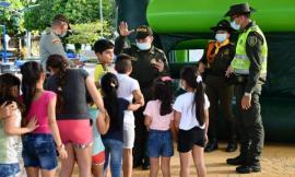 La Policía con toda su capacidad humana y logística realizó actividades de integración en el Meta