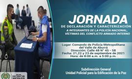 Jornada de Declaración y Caracterización a Integrantes de la Policía