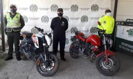 Motocicletas recuperadas en Boyacá