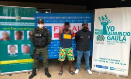 """Capturamos a """"Embulo"""", uno del cartel de los más buscados por extorsión en el Chocó"""