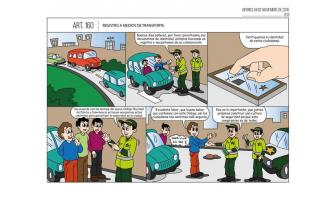 Registro a medios de transporte