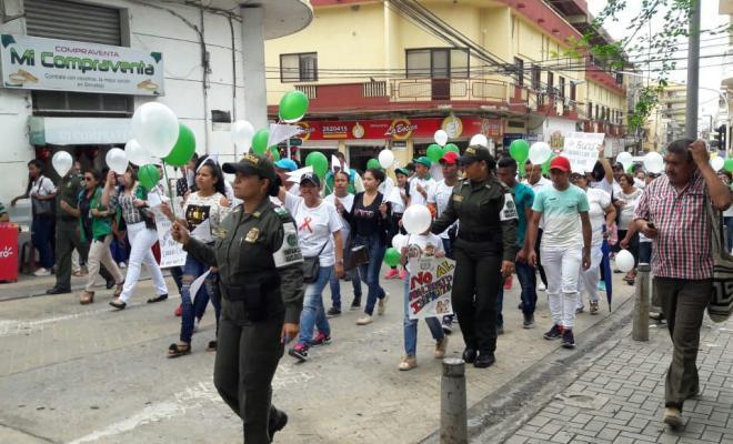 Marcha para defender los derechos de nuestros niños.