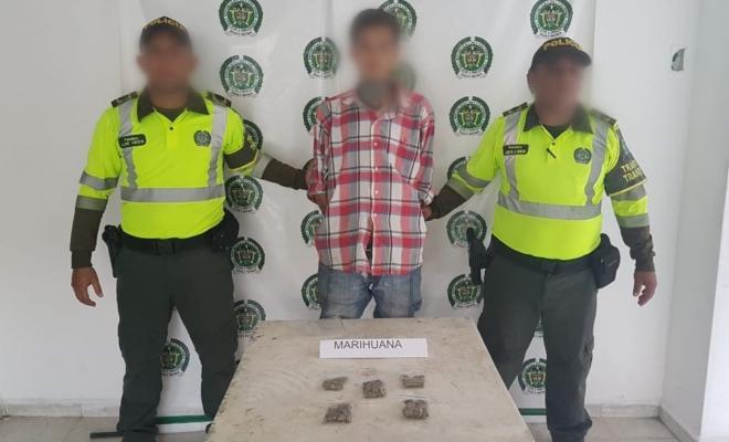 capturado-tráfico de estupefaciente-marihuana-SETRA-transito-sector la vial-fundación-magdalena-cuadrante vial