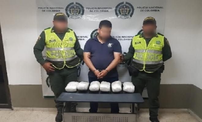 Capturado portando mas de 6000 gramos de cocaina