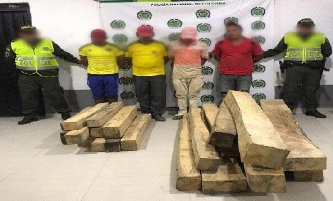 capturados-transporte ilegal de madera-proteccion de flora silvestre-el banco-cuadrante-modelo nacional de vigilancia comunitaria por cuadrantes-MNVCC