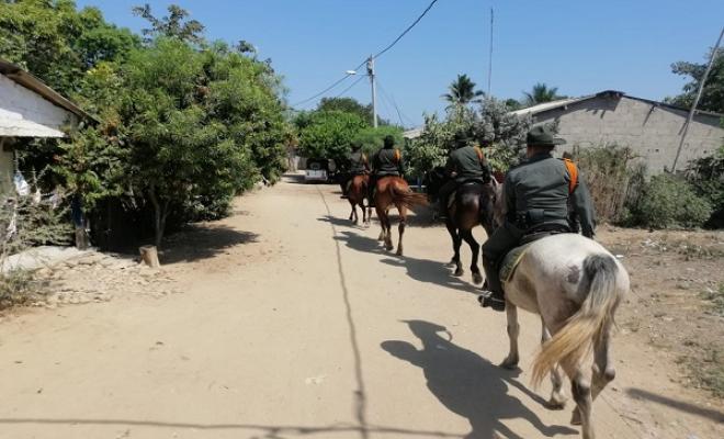Policía realiza patrullaje para prevenir el abigeato